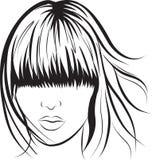 Face abstrata da mulher ilustração royalty free