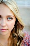 Face acima colhida do fim do sénior de High School Fotografia de Stock