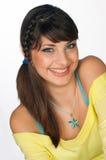 A face adolescente da menina com compo Imagem de Stock Royalty Free