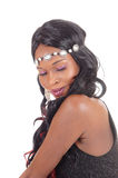 Face of African American woman, eye's closed. Royalty Free Stock Photos