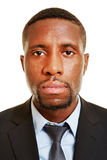 Face of african business man Royalty Free Stock Photo