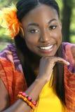 Face africana da mulher foto de stock