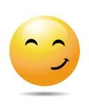 Face amarela do smiley ilustração royalty free