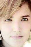 Face & olhos bonitos Imagem de Stock
