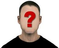 Face anónima vazia do espaço em branco desconhecido do homem Fotos de Stock Royalty Free
