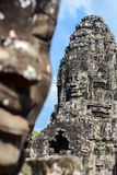 Face of ancient Bayon Temple Royalty Free Stock Image