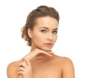 Face And Hands Of Beautiful Woman Royalty Free Stock Photo