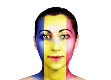Face  with the Andorra flag Stock Image