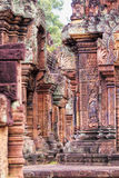 Face of Angkor Wat. The Bayon (Khmer language - Prasat Bayon) is a well-known and richly decorated Khmer temple at Angkor in Cambodia. Built in the late 12th Stock Photo