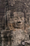 Face on Angkor Wat temple stock photo