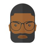 Face of angry black guy Royalty Free Stock Images