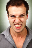 Face of angry furious man Royalty Free Stock Photography