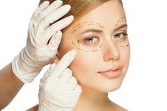 Face antes da operação da cirurgia plástica imagem de stock royalty free