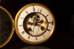 Face of an antique victorian clock Royalty Free Stock Photos