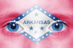 Face with arkansas state flag Royalty Free Stock Images