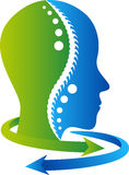 Face arrow logo Royalty Free Stock Photos