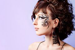 Face art Stock Photography