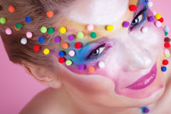 Face art Stock Images