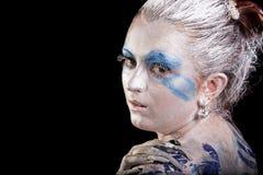 Face-art beauty Stock Photography
