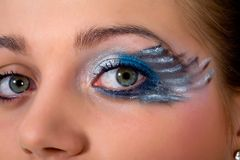 Free Face-art Butterfly Paint Stock Photo - 4867090