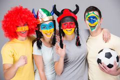 Face art. Flags. Stock Image