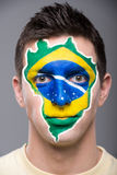 Face art. Flags. Stock Photos