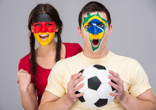 Face art. Flags. Royalty Free Stock Photo
