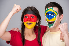 Face art. Flags. Stock Photography