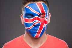 Face art. Flags. Royalty Free Stock Photography