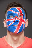Face art. Flags. Royalty Free Stock Images