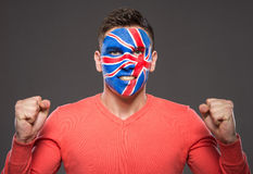 Face art. Flags. Royalty Free Stock Image