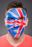 Face art. Flags. Stock Photos