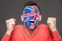 Face art. Flags. Royalty Free Stock Photos