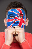 Face art. Flags. Royalty Free Stock Photos