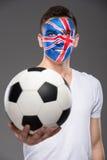 Face art. Flags. Stock Photo