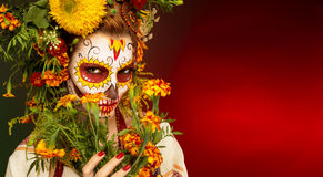 Face art to the day of Halloween Stock Photography