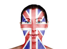 Face as the British flag Stock Images