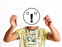 Face as exclamation mark Stock Images