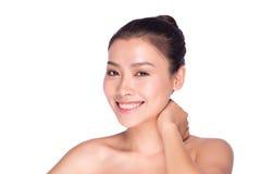 Face asiática da beleza da mulher Fotos de Stock Royalty Free