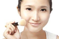 Face asiática e composição da mulher Fotografia de Stock