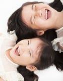 Face asiática feliz das meninas Fotografia de Stock