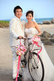 Face of asian Bride and groom Stock Images