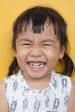 Face of asian 4s year old laughing show good healthy tooth ,happ Royalty Free Stock Images