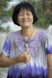 Face of asian senior woman laughing with happiness emotion. Face of asian senior woman   laughing with happiness emotion royalty free stock photos