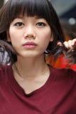 Face of asian woman nice emotion Royalty Free Stock Photos