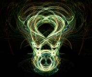 Face assustador - fractal gerado Fotos de Stock Royalty Free