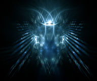 Face assustador - fractal gerado Imagens de Stock Royalty Free