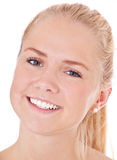 Face of an attractive scandinavian girl Stock Photos