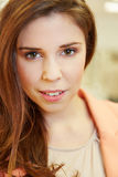 Face of an attractive woman Royalty Free Stock Images