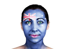 Face with the Australian flag Stock Image